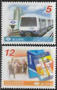 796-CHINA-TAIWAN-2001-RAPID-TRANSIT-SYSTEM-TAIPEI-TRAIN-SET-FRESH-MNH