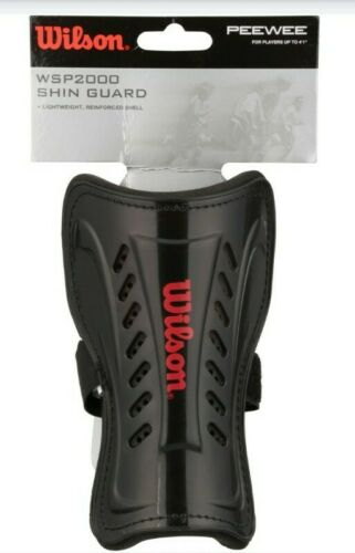 """Wilson WSP2000 Peewee Soccer Shin Guards Black Youth Players up to 4/' 1/"""""""