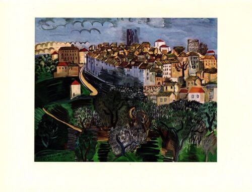 "1954 Vintage Full Color Art Plate /""VENCE/"" LANDSCAPE by RAOUL DUFY Lithograph"