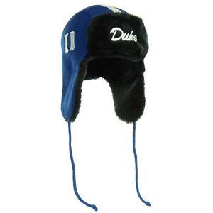 662bf75198248 Duke Blue Devils Helmet Head Trapskin Ear Flap Sherpa Fur Beanie ...