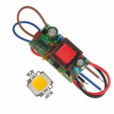 New Driver Power Supply + 10W LED 900LM SMD Chip Light Warm White High Power