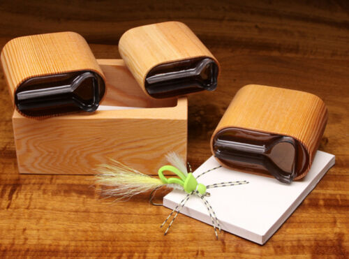 Fly Tying with Wood Caddy DELUXE STEALTH BOMBER POPPER DIVER FOAM CUTTER SET