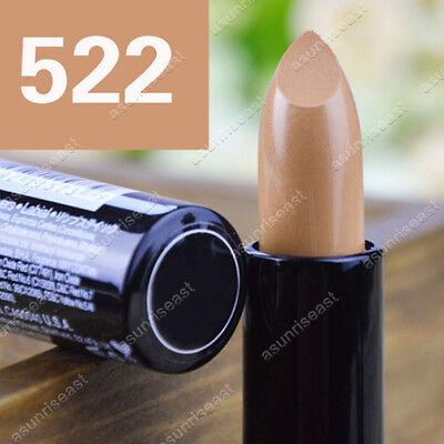 1PCS Creamy Round Lipstick Color 522# Pure Nude 3.5g