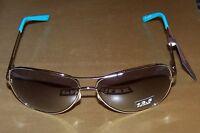 Liz Claiborne Villager Bifocal Sun Readers Silver Metal Frame/blue - +2.5 -
