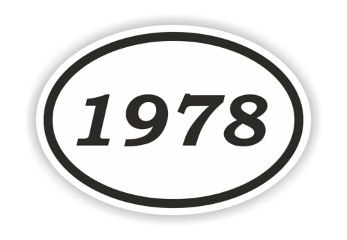 1978 Year Oval Sticker Date Birthday Historical Event Timeline Calendar News Era