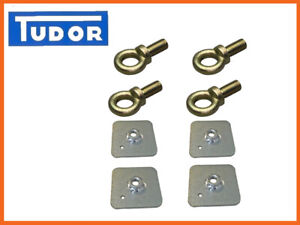 Seat-Belt-Harness-Eye-Bolts-Backing-Mounting-Plates-7-16-Thread-UNF-x4