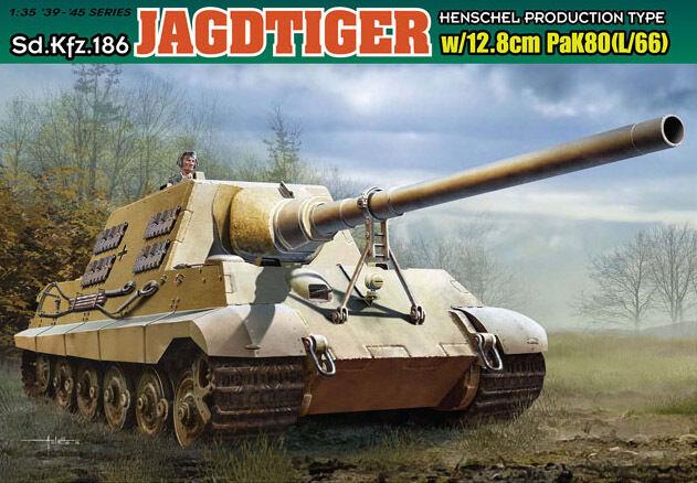 Dragon 1 35 6827 Jagdtiger w 12.8cm PaK.80 (L 66)