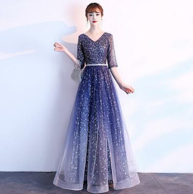 Women/'s New Off Shoulder Evening Wedding Party Irregular Dress Cocktail Prom 889