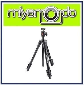Manfrotto-MKCOMPACTLT-Compact-Light-Aluminium-Tripod-w-Ball-Head-Black
