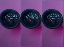3 Pcs Volt Gauge Black Face Black Bezel 2 12 Inch 52 Mm Hole Fitment 12 V