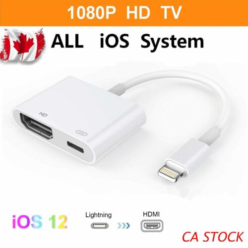 Lightning to HDMI Digital AV Adapter Lightning Cable for iPhone 8 7 6 iPad iOS