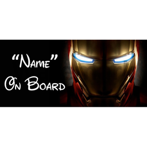 Marvel Ironman Personalised Baby On Board Car Sign 5
