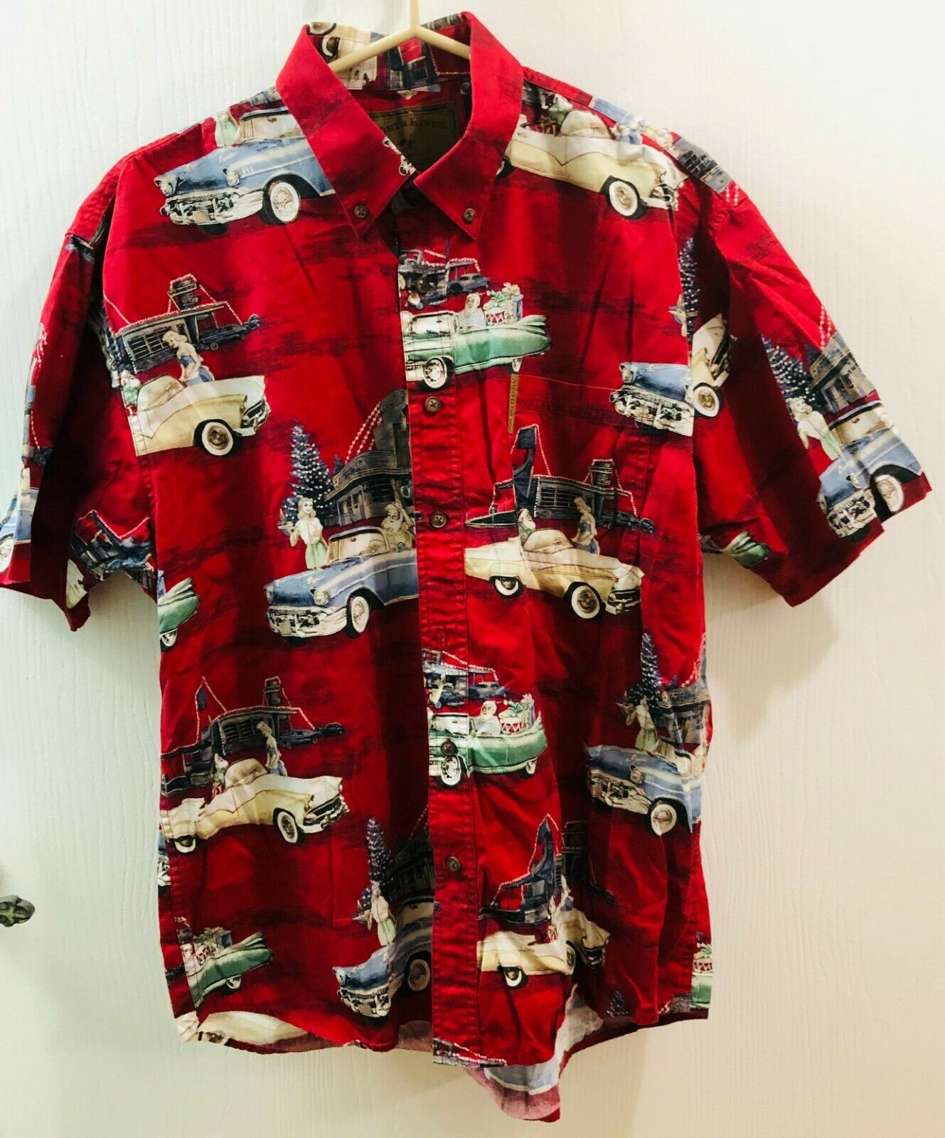 Mens North River Outfitters Short Sleeve Casual Shirt Hawaiian style