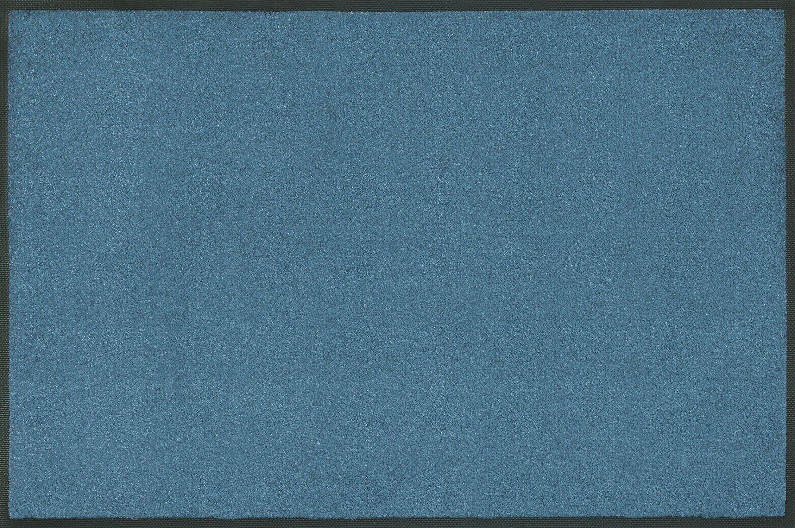 Wash+dry Trend Colour Steel Blau Blau Blau waschbare Fußmatte stahlblau Schmutzmatte 920ab5