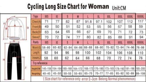 Women/'s Thermal Winter Cycling Jersey Ladies Fleece Bike Cycle Shirt Tops S-6XL
