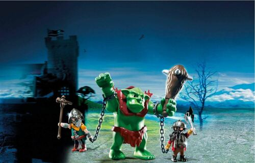 Playmobil Giant Troll With Dwarf Fighters Figure Playset 6004