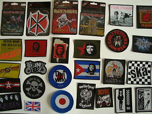 Band Patches patch pistols mod who rock punk slipknot motorhead maiden metal emo