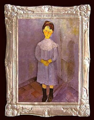 MADE IN USA Modigliani LITTLE GIRL Miniature Dollhouse Picture FAST DELIVERY