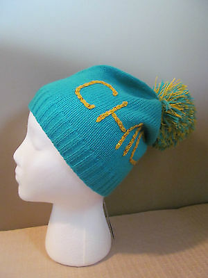 MADE OF ME WOMENS HAT MINT GREEN & GOLD SEQUIN WINTER BEANIE GEEK CHIC NEW