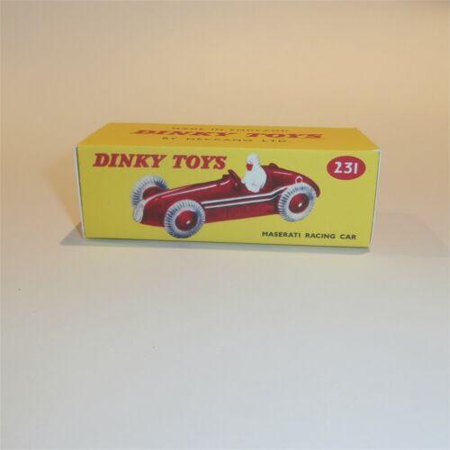 Dinky Toys 231 Maserati Racing Car empty Reproduction box