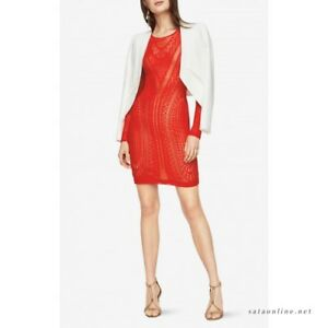 NEW-BCBG-MAX-AZRIA-Lala-Lace-Dress-SCARLET-NZS67L99-602-SZ-S