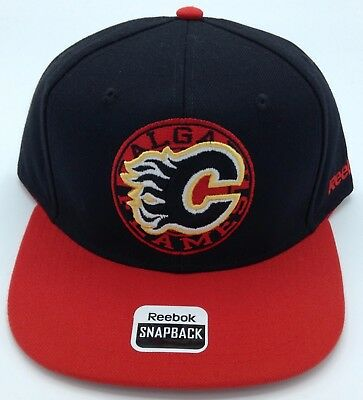 Fan Apparel & Souvenirs Sports Mem, Cards & Fan Shop Generous Nhl Calgary Flames Reebok Structured Snap Back Cap Hat Beanie #vy57z New