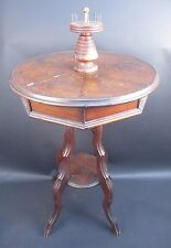 ANTIQUE AMERICAN VICTORIAN WALNUT PATENTED SEWING STAND TABLE  July 18, 1871