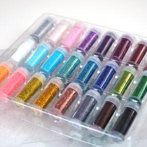Glitter-Craft-Powder-Shake-Jars-Extra-Fine-In-LARGE-25-Gram-Bottles-24-Multi