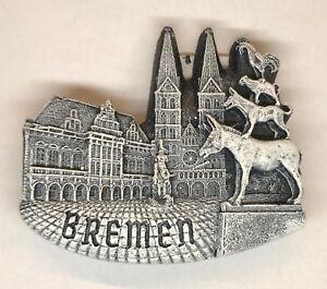 Bremen Metall Magnet Schrift Stadtmusikanten Rathaus 11cm