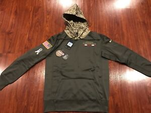 a8fed814 Details about Nike Men's Arizona Cardinals Salute To Service Therma Hoodie  Sweatshirt Medium M