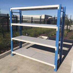 1-5M-Length-Metal-Warehouse-Rackings-Storage-Garage-Shelving-Shelf-Steel-Shelves