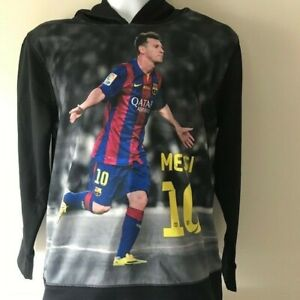 premium selection 79f87 e72f5 Details about FC Barcelona Lionel Messi Print Screen Youth Boy Or Girl  Jersey Size Medium EUC