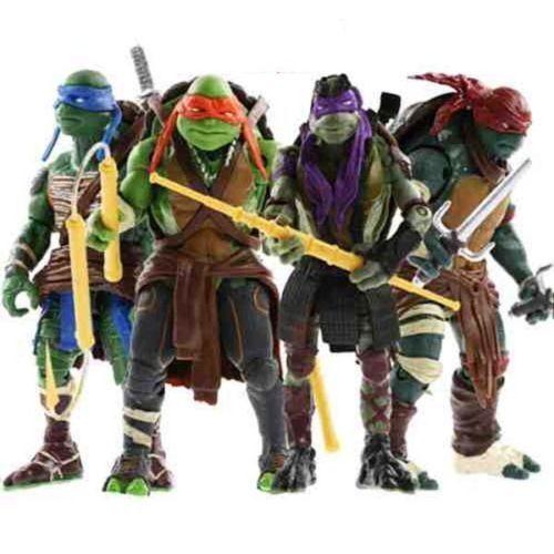 NUOVO 2014 TARTARUGHE NINJA TMNT Movie Set di 4 Action Figure Toys