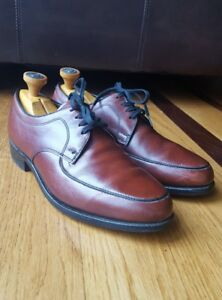 Vtg Hanover Imperial Brown Calfskin Leather Oxford Shoes Extra Wide Size 7 EEE/E