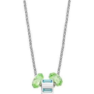 Collana Donna MORELLATO DROPS SCZ227 Acciaio Charm Swarovski Verde Cristalli