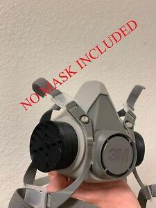 3M-Respirator-Reusable-Filter-Adapter-6000-7000-7502-6300-Series-1-Set-X-BLACK