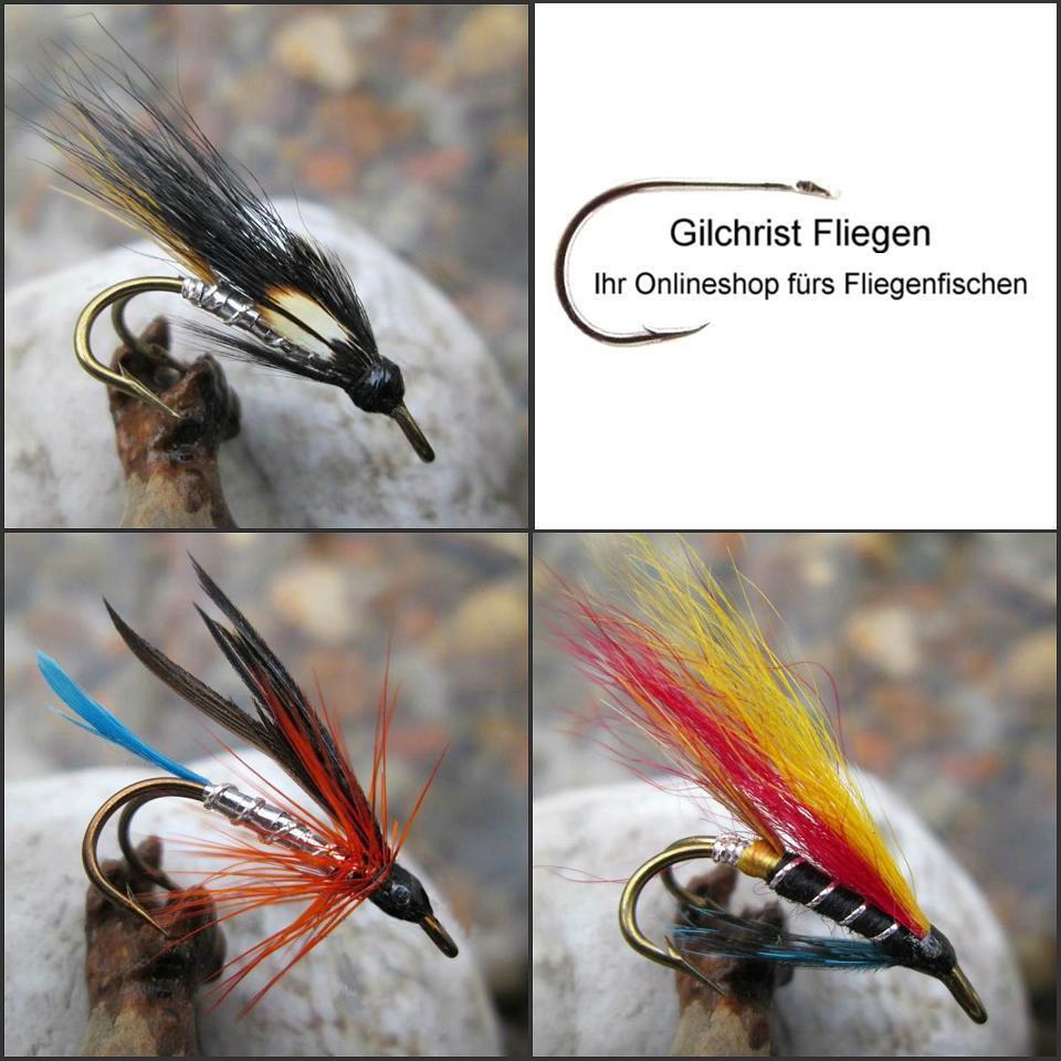 Meerforelle 6 8 Gilchrist Fliegen 3 x POLAR MAGNUS Salzwasserhaken Gr.2//0