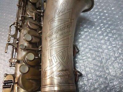 1908 Knickerbocker By Martin Alt / Alto Sax / Saxophone - Made In Usa