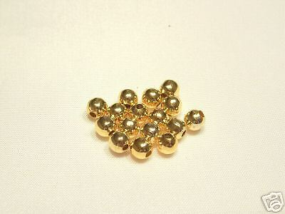 10gms x 2mm Gold Plated Spacer Beads FINDINGS
