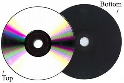 50-Pak =Silver/BLACK= 52X 80-Min CD-R's! Shiny-Silver Top, BLACK Bottom!