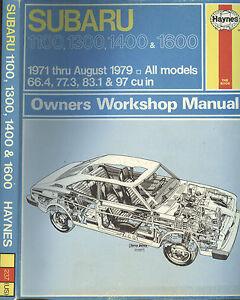 Subaru-Owners-Workshop-Manual-1971-thru-August-1979-All-Models-by-J-H-Haynes