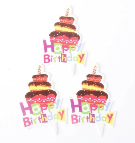 30 HAPPY BIRTHDAY CUPCAKE TOPPERS-MINI CARD CAKE TOPPER-PARTY-KIDS//CHILDRENS