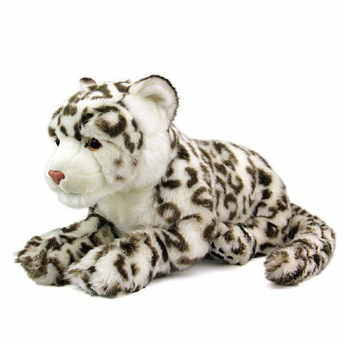 Real plush toy snow leopard parent real animal family series