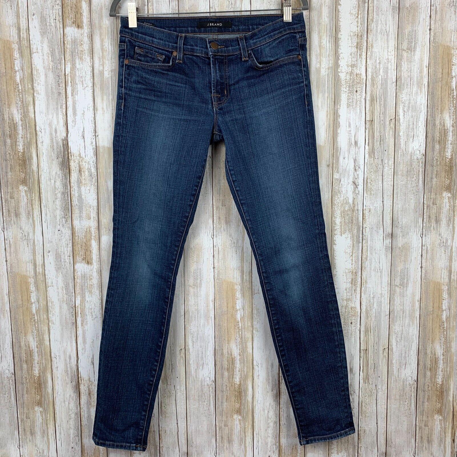 J BRAND Skinny Leg Stretch Jeans League Dark bluee Wash 27 Classic Fit