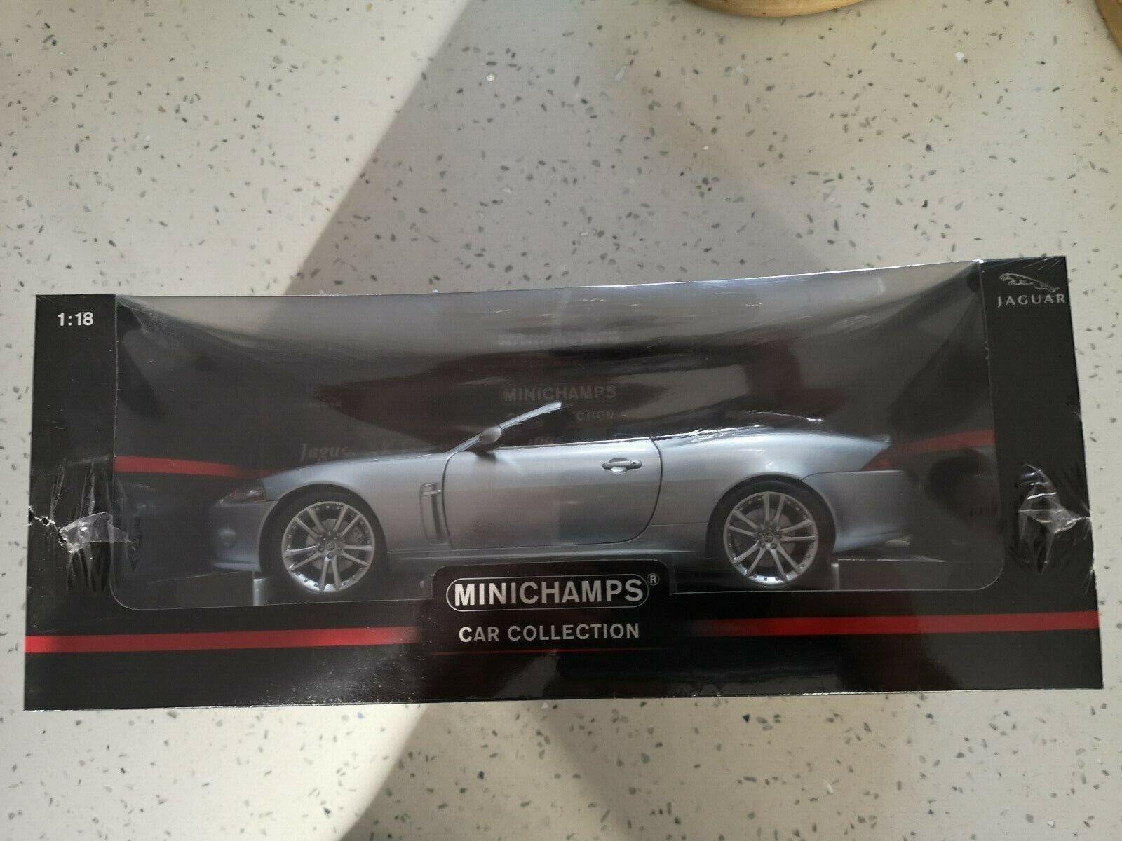 Jaguar XK ConGrünible 1 18 Minichamps Silber NEW & SEALED.