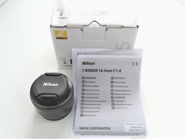 [UNUSED] Nikon 1 Nikkor 18.5mm f1.8 Lens Black Body with BOX from JP