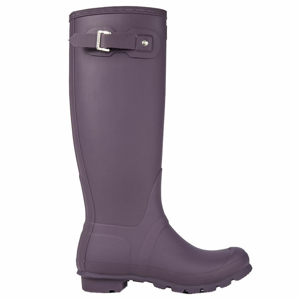 Hunter Original Tall Wellington Purple Womens Rain Boots