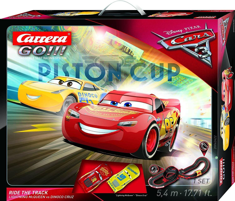 Pista Eléctrico Coches 3 Piston Cup Ride The Track 5,4 M Mcqueen Cruz Cocherera Go