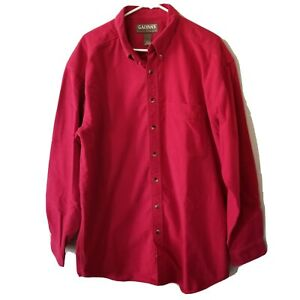 Galyans-Red-Outdoor-Hunting-Mens-XLT-Thick-Flannel-Long-Sleeve-Shirt