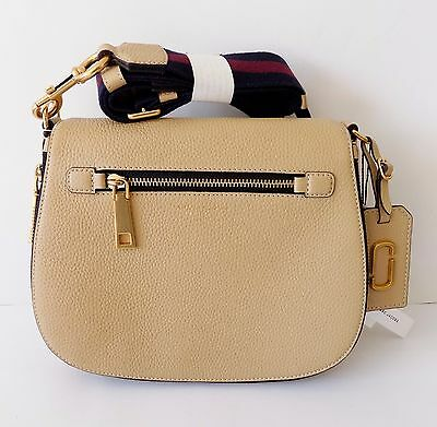 NWT Marc Jacobs Gotham Nomad Leather Saddle Bag ~ Sand ~ M0008290